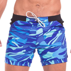MSA Signature Taddlee Men's Swimwear Swimsuits Boxer Briefs Trunks Board Shorts Camo Beach Boxer Basic Long Bathing Suits
