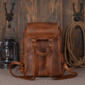 www.mensswaggerapparel.com Quick shipping low prices men's Leather Belts & Leather Bags Backpack Black/Brown/Orange genuine Leather Travel Bag Men 14-inch Laptop Backbag Male Leisure High Capacity