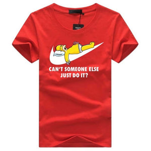 www.mensswaggerapparel.com Quick shipping low prices Mens T-Shirt & Hoodie Summer Simpson Just do it funny Print Design T shirt Hip hop Men's brand Tops o-neck short sleeve Tee shirt homme camisetas