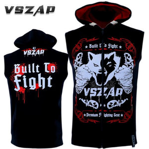 www.mensswaggerapparel.com Quick shipping low prices Mens T-Shirt & Hoodie  VSZAP MMA A sleeveless hooded hooded sweatshirt, vest, top vest, Thai boxing combat fitness running.