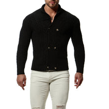 MSA Signature Knitted Sweaters Long Sleeve Cardigan Turndown Knitwear Coat Casual Slim Sweater Men Clothing