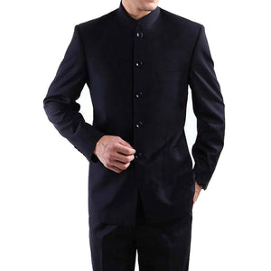 www.mensswaggerapparel.com Quick shipping low prices Traditional Attire  Men Suits Big size Chinese Mandarin Collar Male Suit Slim Fit Blazer Wedding Terno Tuxedo 2 Pieces Jacket & Pant