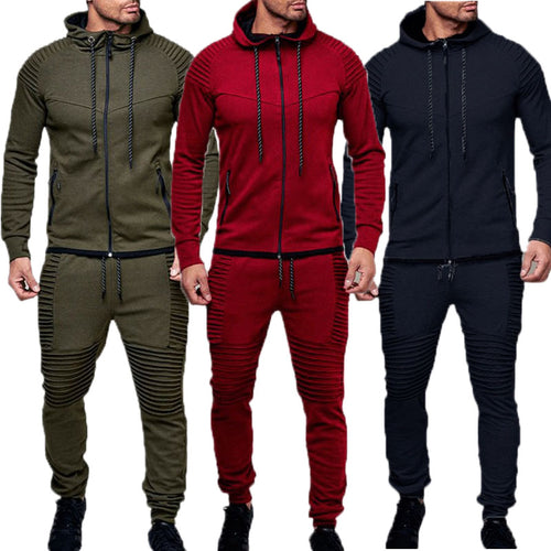 www.mensswaggerapparel.com Quick shipping low prices Mens T-Shirt & Hoodie Outdoor Sports and Leisure Sweater, Pure Cardigan Pure Color Zipper Jacket Casual Set Tracksuit