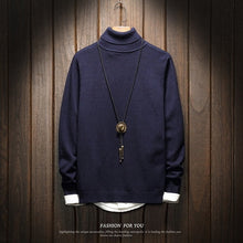 www.mensswaggerapparel.com Quick shipping low prices Men's Sweaters Turtleneck Solid Color Knit Casual Sweater Slim Fit Pullovers