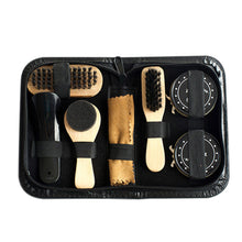www.mensswaggerapparel.com Quick shipping low prices men's Gifts & Gadgets 8PCS Portable Shoe Shine Care Kit Black & Transparent Polish Brush Set for Boots Shoes Care Complete Cleaner Kit