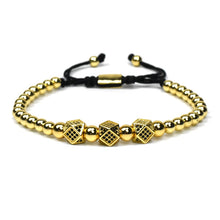 www.mensswaggerapparel.com Quick shipping low prices Men's Watches & Accessories  3pcs/set Men Bracelet jewelry crown charms Macrame beads Bracelets