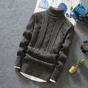 www.mensswaggerapparel.com Quick shipping low prices Men's Sweaters Turtleneck Sweaters Thick Warm Pullover Men Brand Clothing Casual Long Sleeve Slim Fit Christmas Sweater
