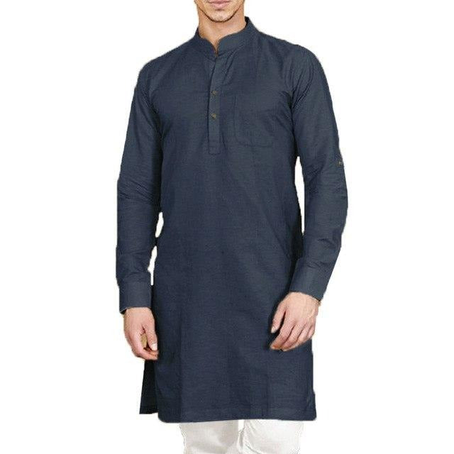 www.mensswaggerapparel.com Quick shipping low prices Traditional Attire INCERUN Men's Shirt Stand Collar Long Sleeve Cotton Button Tops Men Indian Kurta Suit Camisa Casual Retro Solid Men Long Shirts