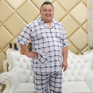 www.mensswaggerapparel.com Quick shipping low prices men's Gifts & Gadgets Plus Size 100% cotton  men  pajamas hombre masculino short-sleeve casual mens Sleepwear  pajamas sets for male 100kg