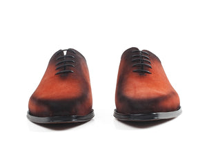 www.mensswaggerapparel.com Quick shipping low prices men's boots & dress shoes Suede Oxford Shoes Orange Patina Handmade Formal Dress Shoes Lace-up Bespoke Square Toe Shoes Zapato Hombre