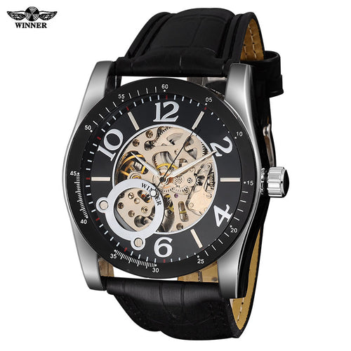 www.mensswaggerapparel.com Quick shipping low prices Men's Watches & Accessories men's military watches casual men sports mechanical watches men's military skeleton watches male clock leather strap relogio masculino