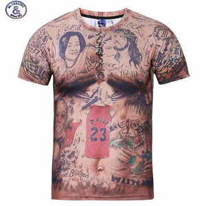 www.mensswaggerapparel.com Quick shipping low prices Mens T-Shirt & Hoodie casual short sleeve O-neck t-shirt Tattoo muscle man tee shirt camisa XXXL