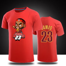 www.mensswaggerapparel.com Quick shipping low prices Mens T-Shirt & Hoodie  LeBron James T-shirts100 % Cotton Summer Male Cartoon Q Printing Basketball training Exercise Men Clothing plus size