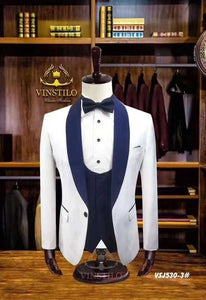 www.mensswaggerapparel.com Quick shipping low price men's vest suit & suit jackets 3 Pieces Naples Italian Men Wedding Suits  Best Man Terno Masculino Slim Fit Jacket Pant Vest Mens Suits With Pants