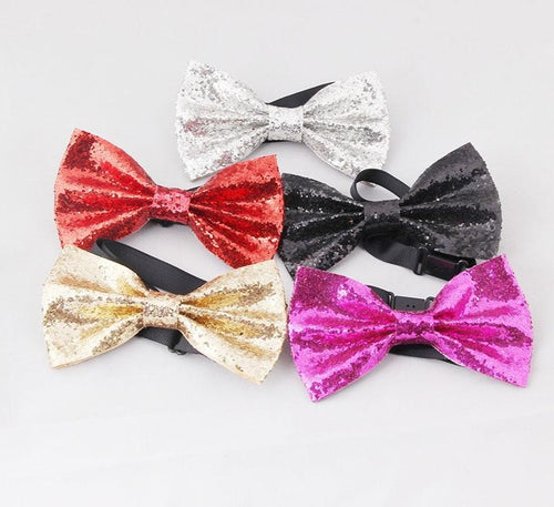 www.mensswaggerapparel.com Quick shipping low prices men's ties & bow ties   Shining Christmas party  gold sliver red Men and women butterfly bowtie necktie