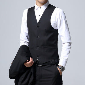 www.mensswaggerapparel.com Quick shipping low price men's vest suit & suit jackets Signature Black Formal Suit Business Mens Suits Size 4XL Wedding Suits
