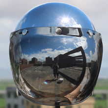 www.mensswaggerapparel.com Quick shipping low prices Biker Apparel & Accessories vintage mirror jet capacetes de motociclista sliver chrome motorcycle helmet