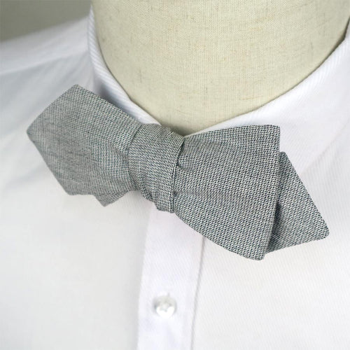 www.mensswaggerapparel.com Quick shipping low prices men's ties & bow ties Handmade Mens Cotton Bowties Hanky Set Grey Solid Self Bow Ties Butterfly Pocket Square For Wedding Party Suit