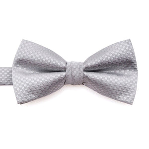 www.mensswaggerapparel.com Quick shipping low prices men's ties & bow ties Solid Checked White Grey Silver Pre-tied Tuxedo Bow Tie Adjustable 100% Silk
