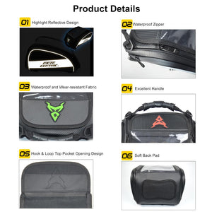 www.mensswaggerapparel.com Quick shipping low prices Biker Apparel & Accessories Motorcycle Bag Tank Bag High Capacity Helmet Storage Backpack Rear Seat Bag