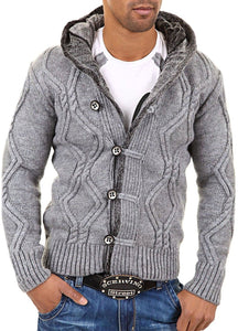 www.mensswaggerapparel.com Quick shipping low prices men's sweaters Carisma Men's Cardigan Sweater Light Gray