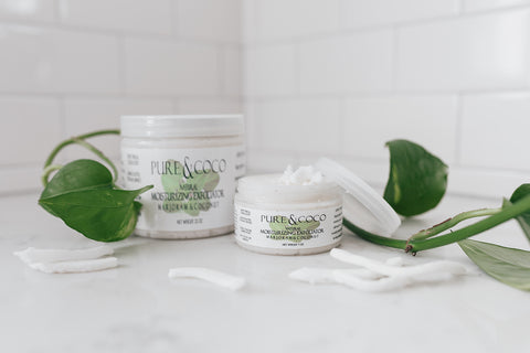 Marjoram and Coconut Moisturizing Exfoliators