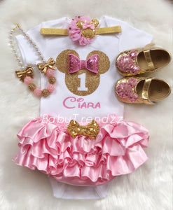 BabyGirl Shoes- Minnie Shoes/First