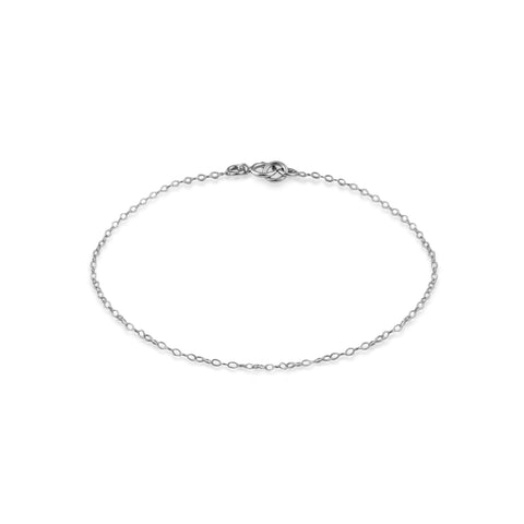 Sterling Silver 1mm Chain Bracelet