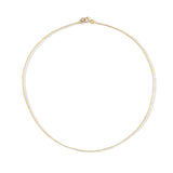 14k Gold Plated Sterling Silver 1mm Cable Chain