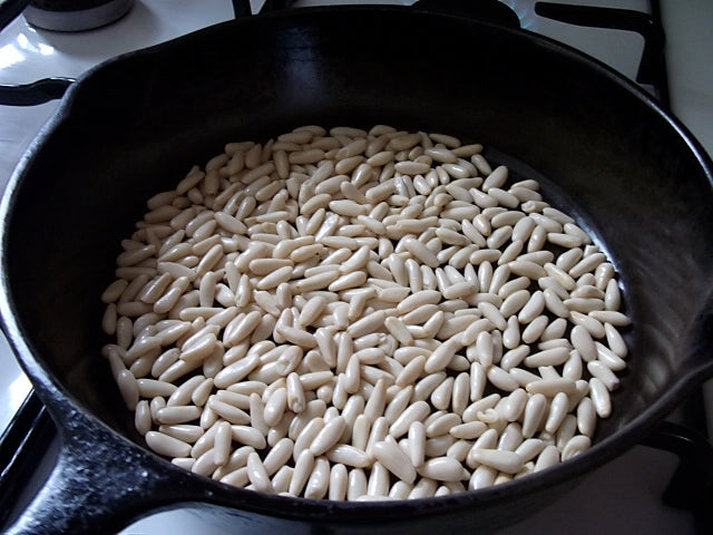 How to toast or roast your Pinoli pine nuts