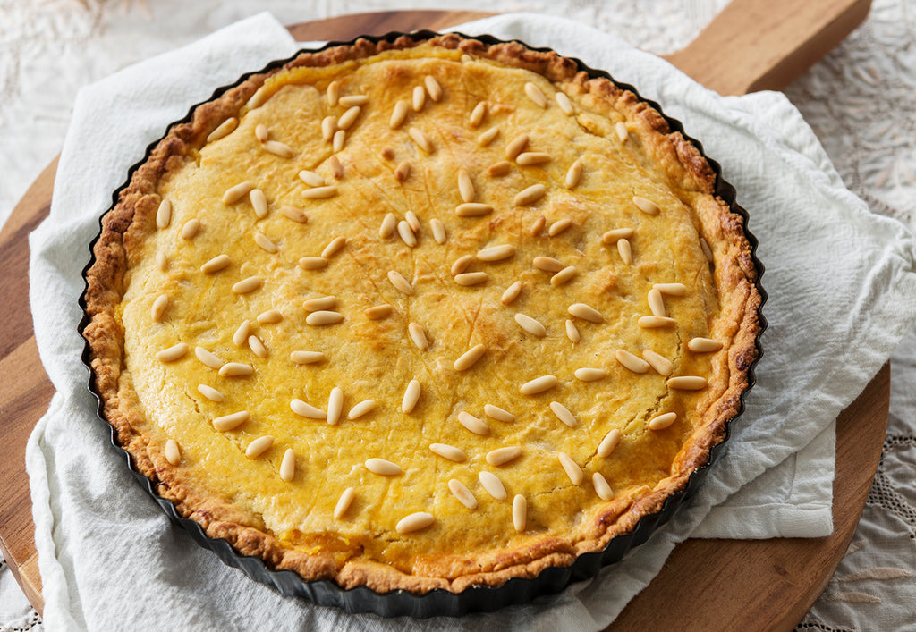 Pinoli pine nut and lemon tart