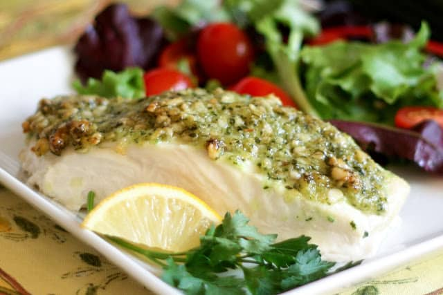 Pinoli pine Nut Crusted Fish