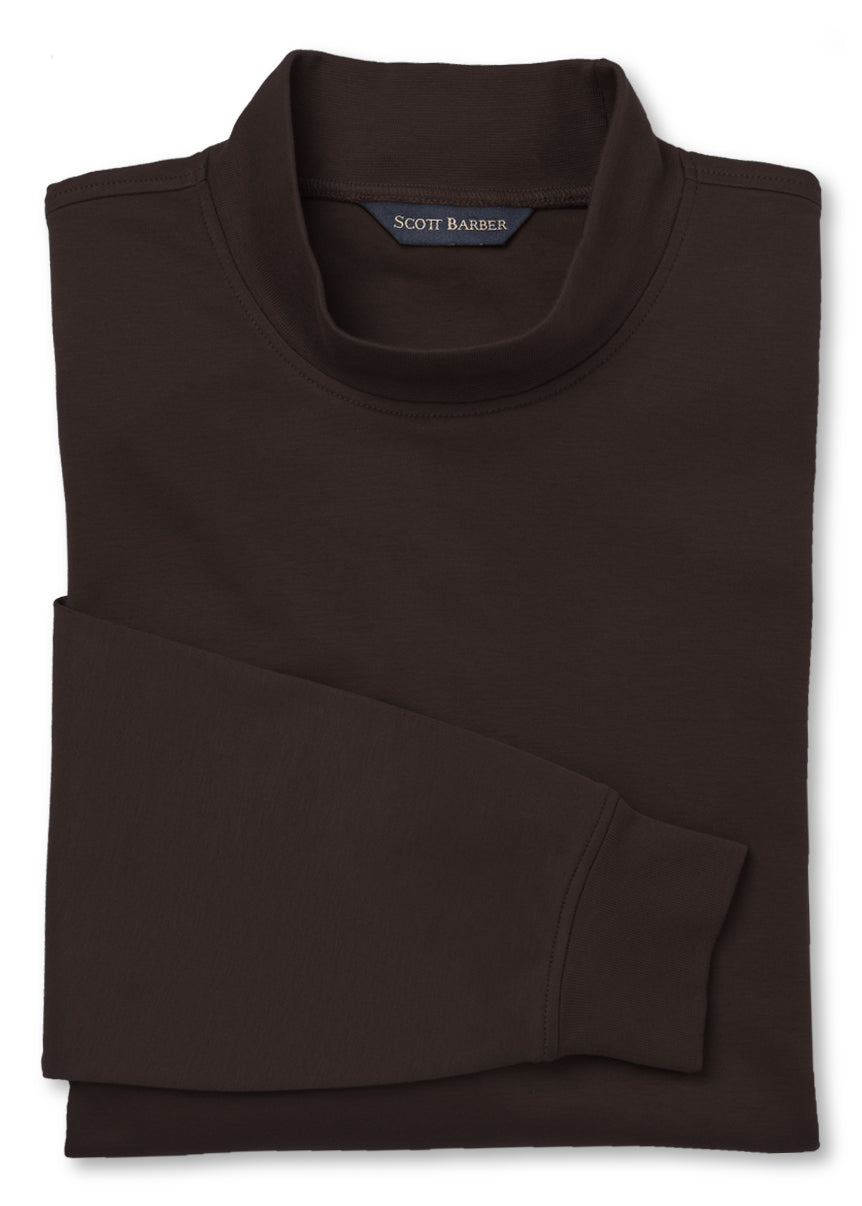 Men's Raisin Mock Turtleneck
