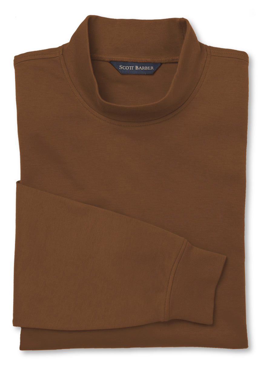 Men's Tobacco Mock Turtleneck