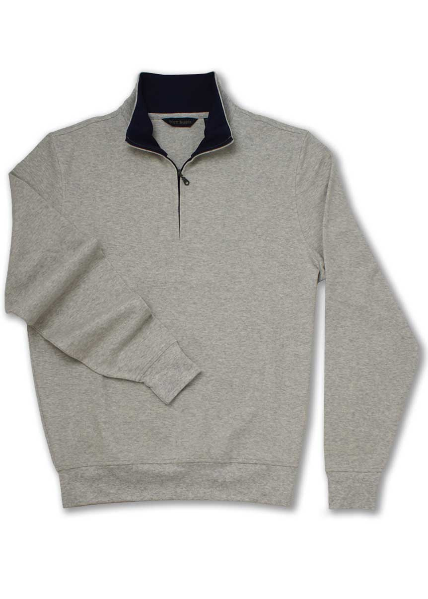 Men's Pearl Gray Zip Mock Sweatshirt