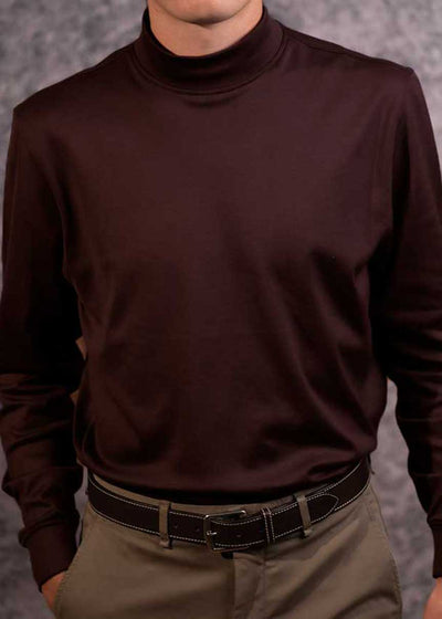 Men's Raisin Mock Turtleneck - Scott Barber