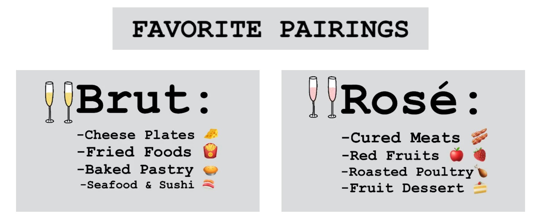 food and bubbles pairings