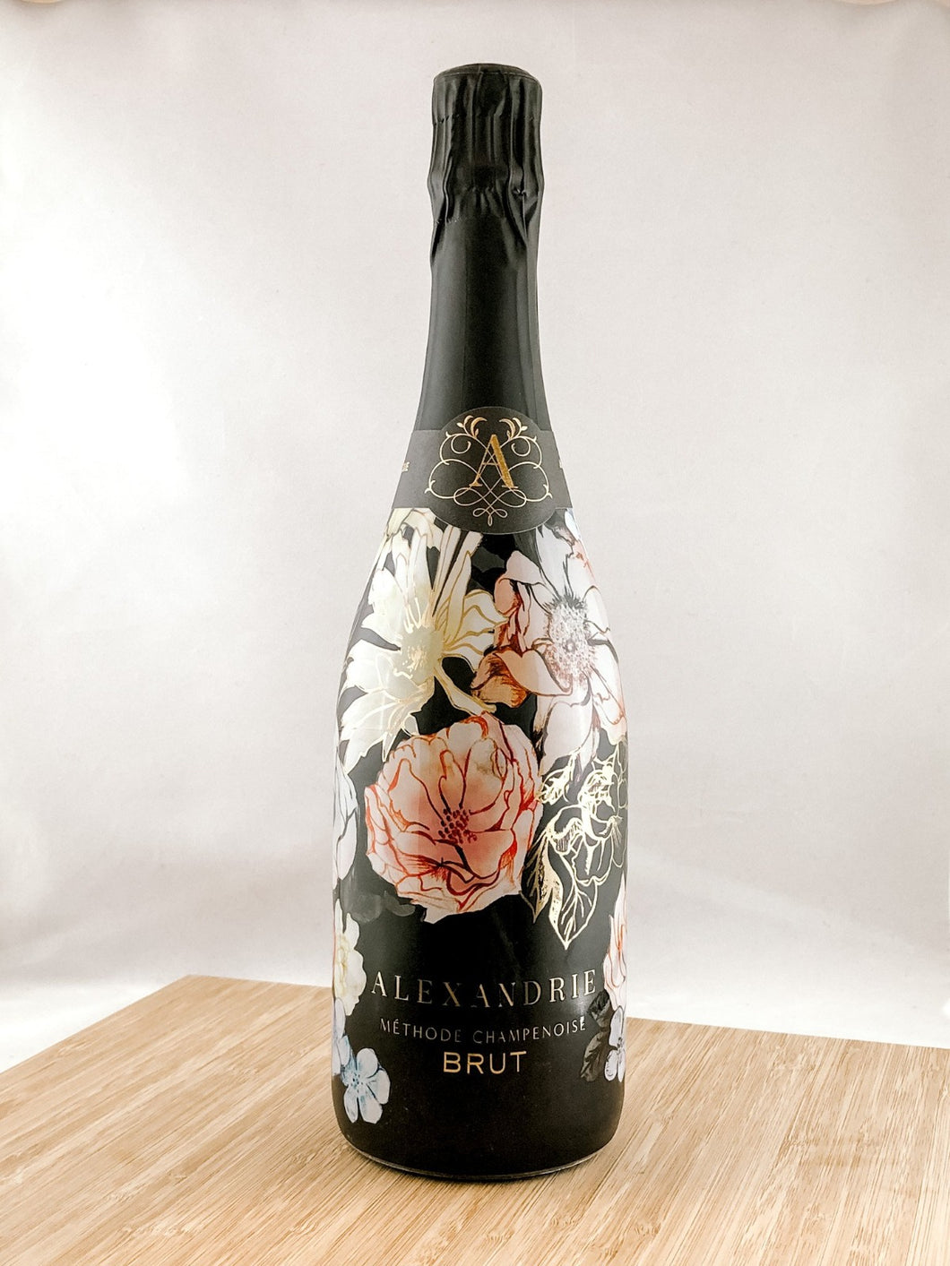 Alexandrie Cellars Brut, part of our champagne delivery and great for unique corporate gift ideas.