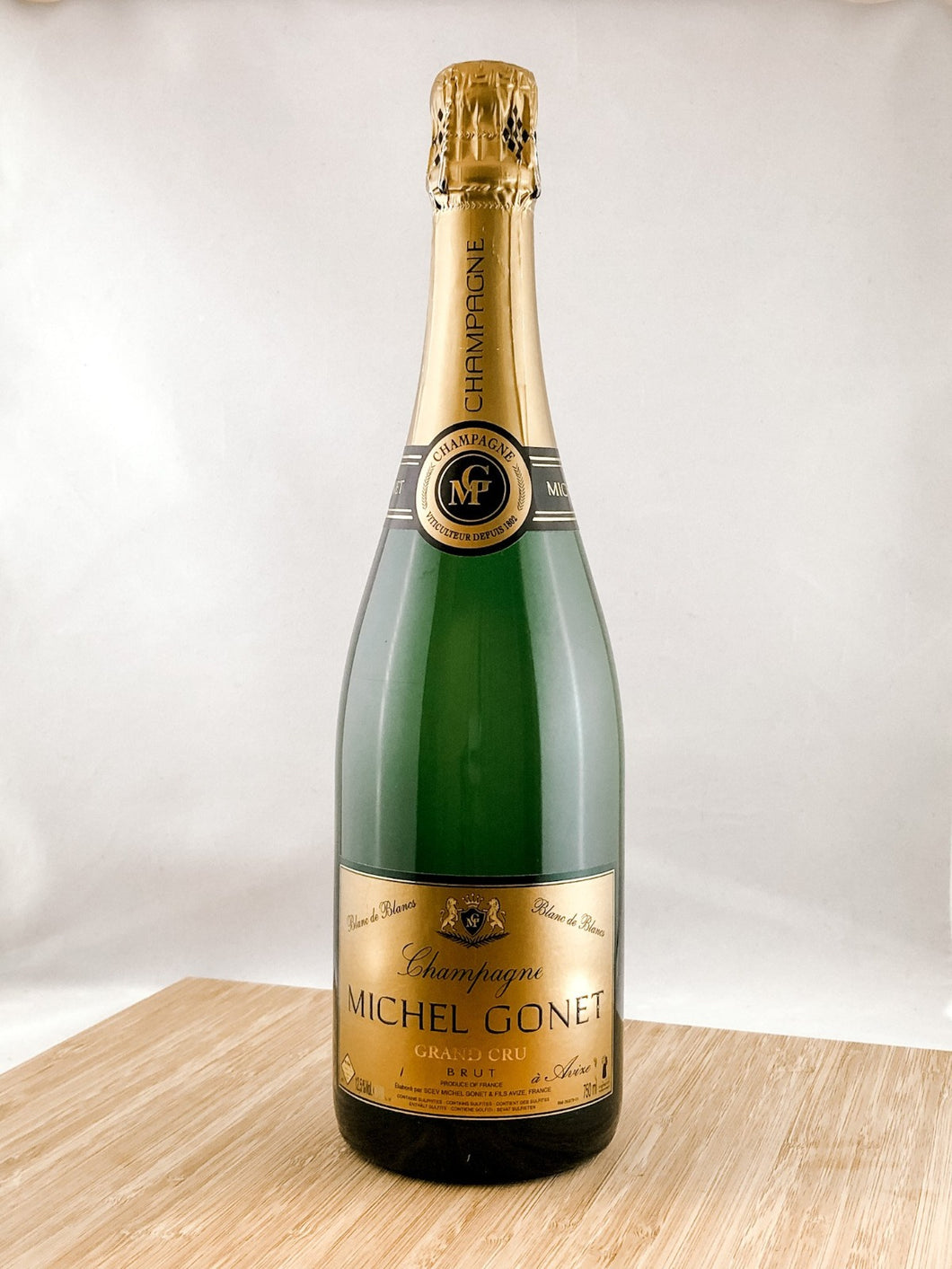 Michel Gonet blanc de blancs champagne, part of our champagne delivery and great for unique gift ideas.