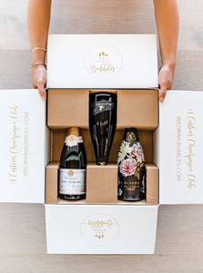 The Bubbles Club Subscription, our champagne delivery, and great for unique gift ideas.