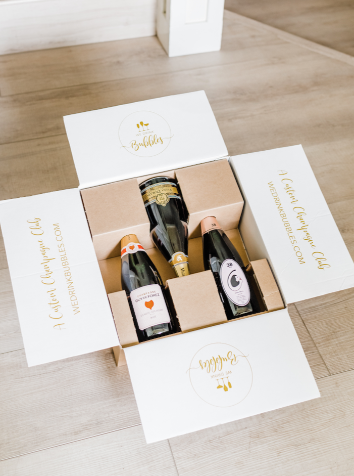3 bottles of unique sparkling wines. Champagne delivery and great for unique gift ideas.