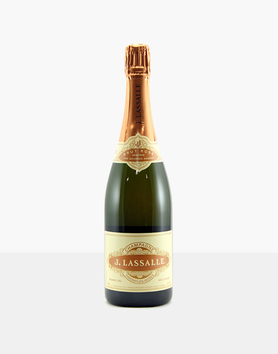 J Lassalle brut rose, part of our champagne delivery and great for unique gift ideas.