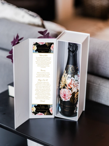 custom branded champagne gift box. the perfect gift for corporate needs.