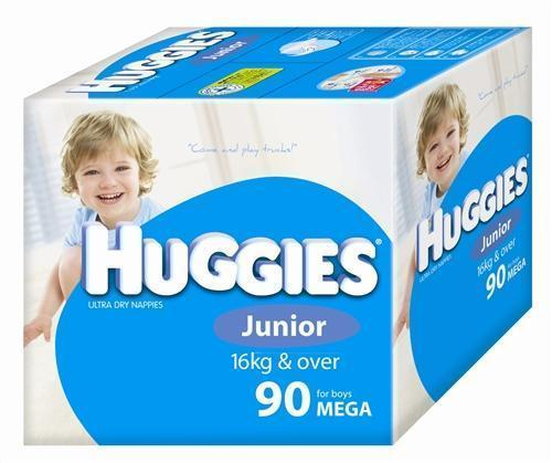 Huggies Ultra Dry Nappies Size 6 Junior Boy 16+ kg Mega Box 90pk