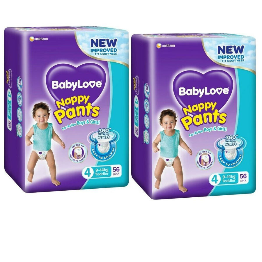 BabyLove Nappy Pants Toddler 9-14kg - BULK 2x56