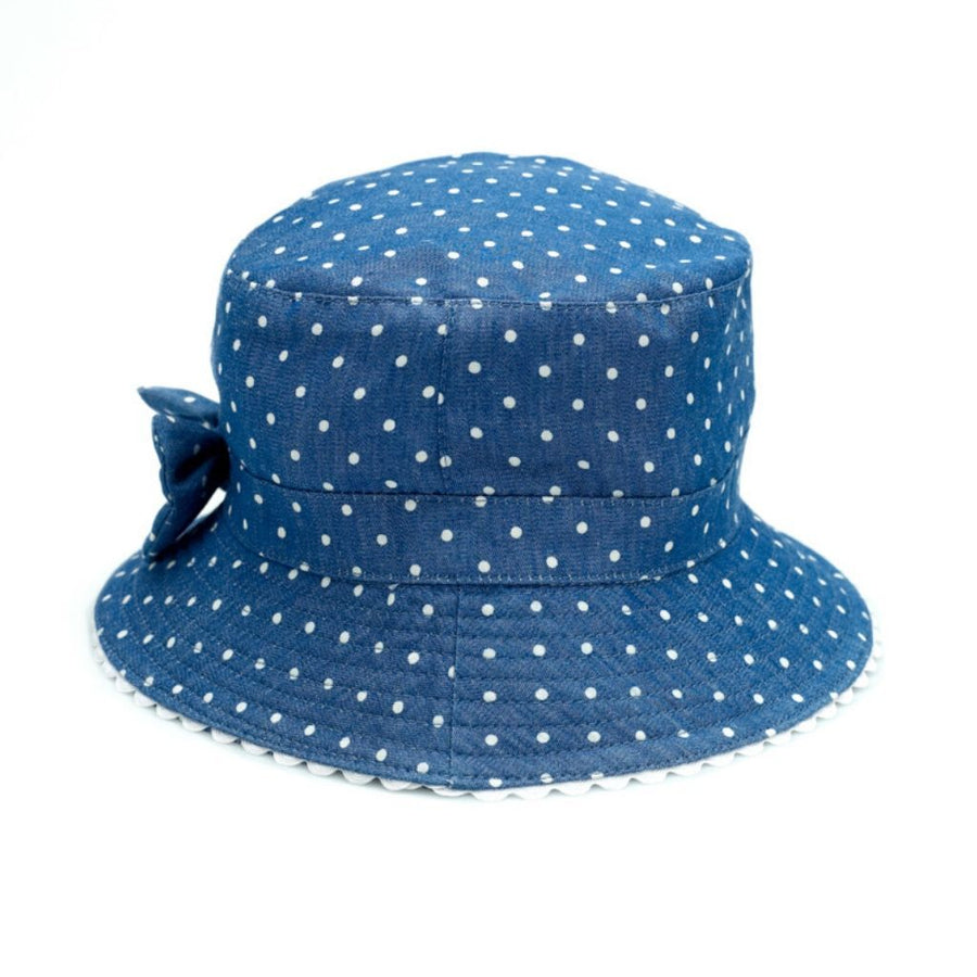 Banz Baby Bucket Sun Hat - Blue White Dot