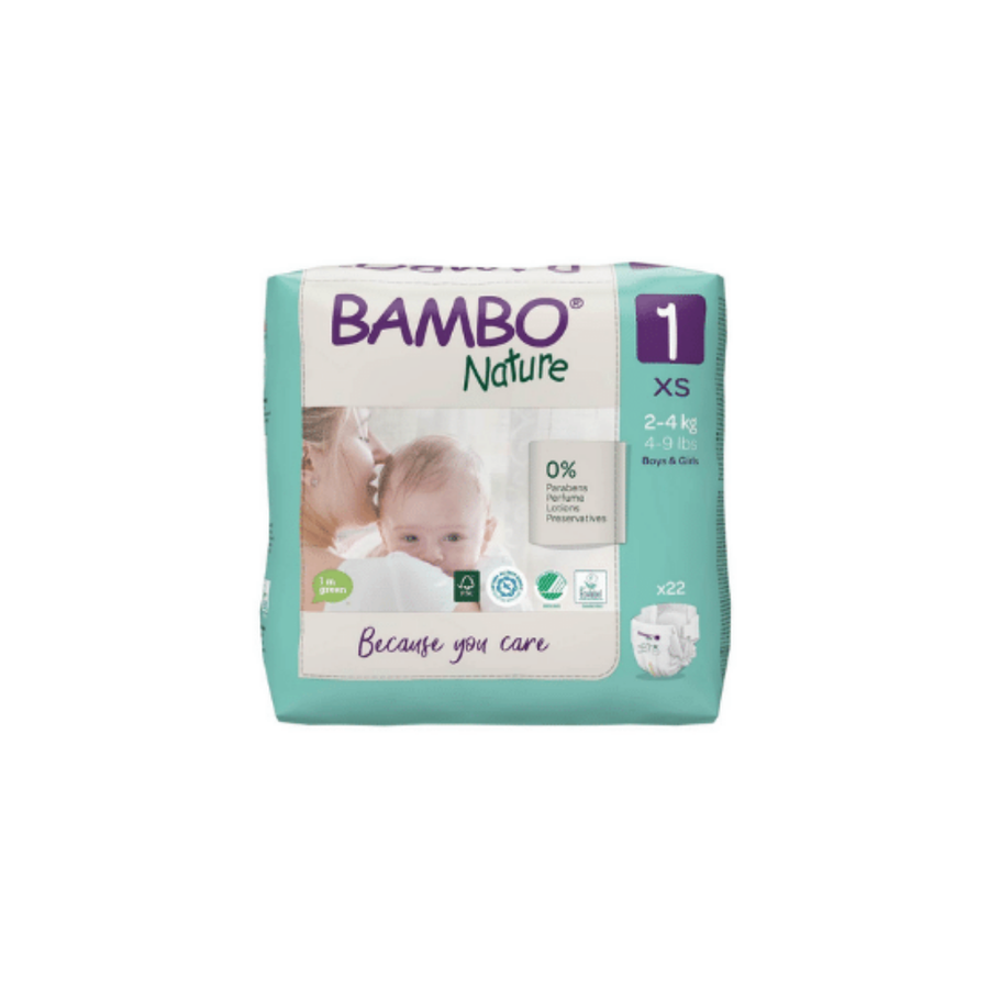 Bambo Nature Eco Nappies Size 1 Newborn - 22 Pack