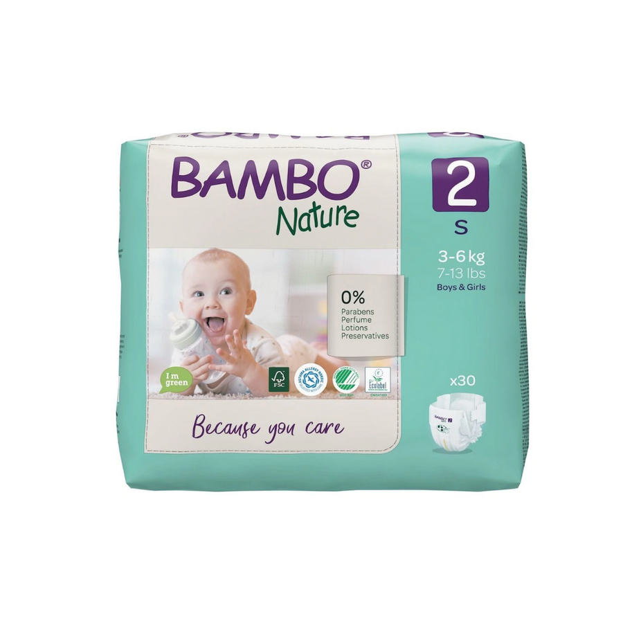 Bambo Nature Nappies Size 2  - 30 Pack