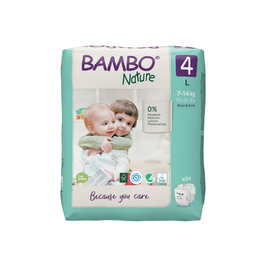 Bambo Nature Nappies Size 4 - 24 Pack