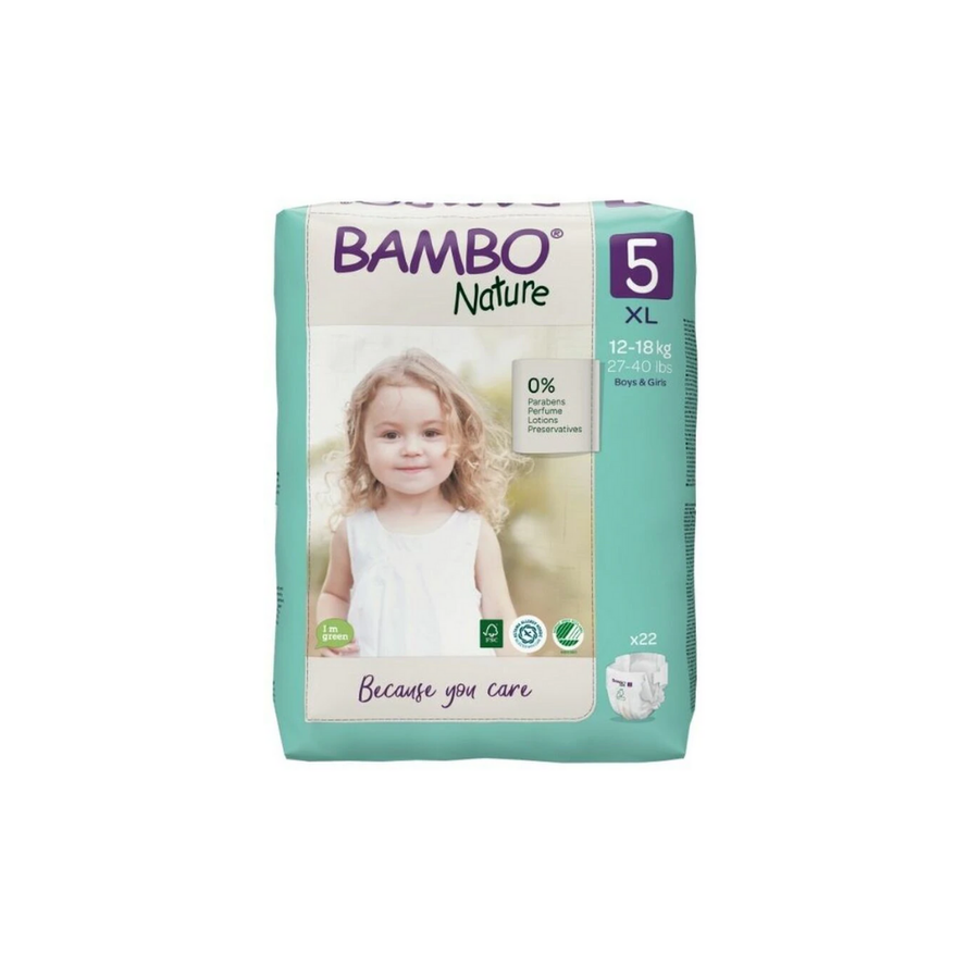 Bambo Nature Nappies Size 5 - 22 Pack